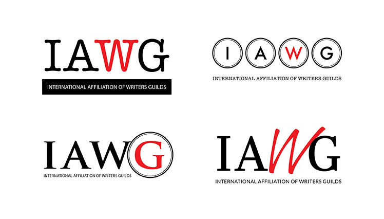 logo designs by John Beadle for The International Affiliation of Writers Guilds