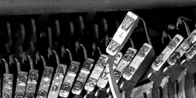 typewriter keys The International Affiliation of Writers Guilds web site designed by John Beadle