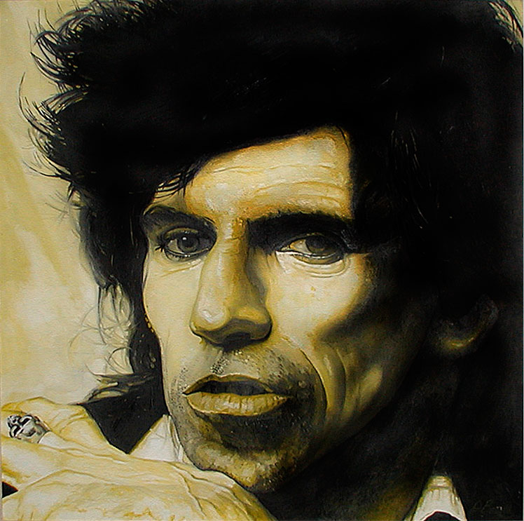 Keith Richards painting by John Beadle